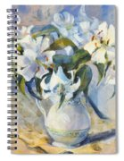 White Lilies In White Jug Spiral Notebook