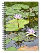 White Lotus Flowers Spiral Notebook