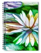 White Lotus In The Pond Spiral Notebook