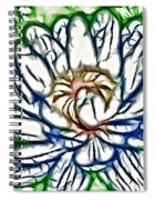 White Lotus  Spiral Notebook