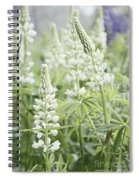 White Lupines Spiral Notebook