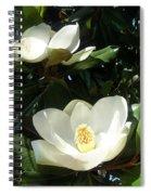 White Magnolia Flowers 01 Spiral Notebook