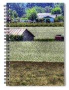 White Mustard Sheds 1584 Spiral Notebook
