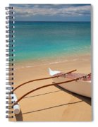 White Outrigger Canoe Spiral Notebook