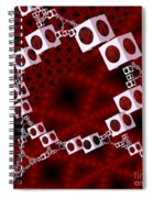 White Over Red Spiral Notebook