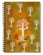 White Palms Gold Spiral Notebook