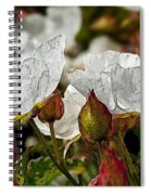White Paper Petals Spiral Notebook