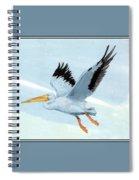 White Pelican 1 Roger Bansemer Spiral Notebook
