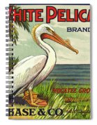 White Pelican Fruit Crate Label C. 1920 Spiral Notebook