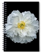 White Peony Spiral Notebook