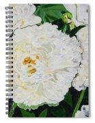White Peony Garden Spiral Notebook