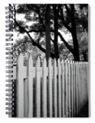White Picket Fence- By Linda Woods Spiral Notebook