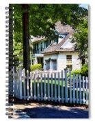White Picket Fence Spiral Notebook