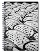 White Plastic Chairs Spiral Notebook