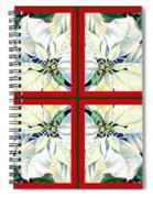 White Poinsettia Quartet Spiral Notebook