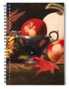 White Pumpkin Still Life Spiral Notebook