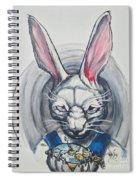 White Rabbit  Spiral Notebook