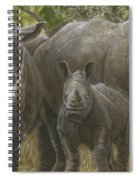 White Rhino Family - The Face That Only A Mother Could Love Spiral Notebook