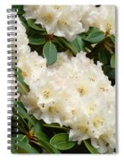 White Rhodies Landscape Floral Art Prints Canvas Baslee Troutman Spiral Notebook