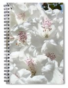 White Rhododendrons Flowers Art Prints Baslee Troutman Spiral Notebook