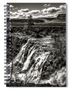 White River Falls Black  And White Spiral Notebook