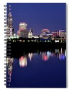 White River Reflects Indy Skyline Spiral Notebook