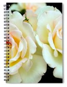 White Rose Cluster Spiral Notebook