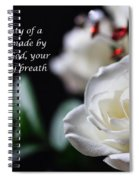 White Rose Expressions Of Love Spiral Notebook