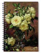 White Roses - A Gift From The Heart Spiral Notebook