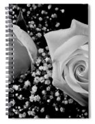 White Roses Bw Fine Art Photography Print Spiral Notebook