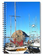 White Sail Boat Morro Rock  Spiral Notebook
