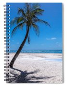 White Sand Beaches And Tropical Blue Skies Spiral Notebook