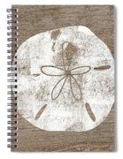 White Sand Dollar- Art By Linda Woods Spiral Notebook