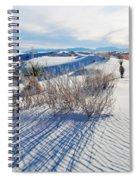 White Sands Shadows Spiral Notebook