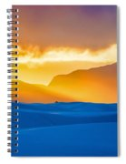 White Sands Sunset 2 Spiral Notebook