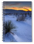 White Sands Sunset Spiral Notebook