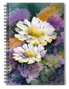 White Scabious Spiral Notebook
