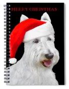 White Scottish Terrier Dog Christmas Card Spiral Notebook