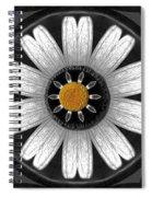 White Shimmering Flower Spiral Notebook