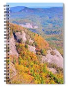 White Side Mountain Fool's Rock In Autumn Spiral Notebook