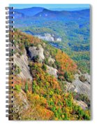 White Side Mountain Fool's Rock In Autumn Vertical Spiral Notebook