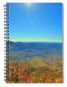 White Side Mountain Nantahala National Forest In Autumn Spiral Notebook