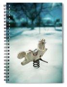 White Spring Horse Spiral Notebook