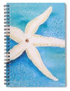 White Starfish Spiral Notebook