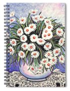 White Straw Flowers Two Spiral Notebook