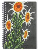 White Sunflowers Spiral Notebook