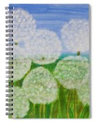White Sunflowers, Painting Spiral Notebook