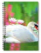White Swan Spiral Notebook