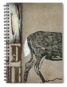 White Tail Deer Wild Game Rustic Cabin Spiral Notebook