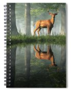 White Tailed Deer Reflected Spiral Notebook